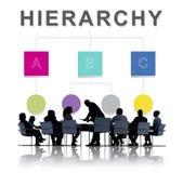 Hierarchia lidera drużyny diagrama pojęcie Obrazy Stock