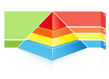 Hierarchical pyramid Stock Image