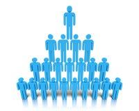 Hierarchie von Leuten. Stockfoto