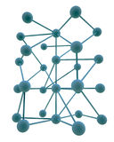 Hierarchy abstract. 3D hierarchy networking abstract illustration Stock Photo