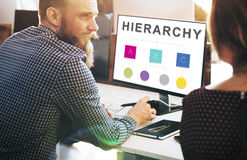 Hierarchy Leader Team Diagram Concept Royalty Free Stock Images