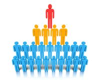 Hierarchy of people. Stock Image