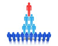 Hierarchy of people. Royalty Free Stock Photos