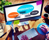 Hierarchy Structure Task Multilevel Employment Concept Royalty Free Stock Photos
