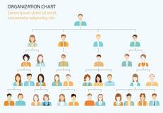 Hierarquia da empresa do organigrama Ilustração Stock