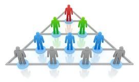 Hierarquia da pirâmide. Conceito do negócio Fotografia de Stock