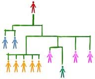 Hierarquia de uns trabalhos de equipa Foto de Stock Royalty Free