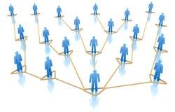 Hierarquia do conceito da rede do negócio. ilustração royalty free