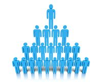 Hierarquia dos povos. Foto de Stock