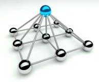 Hierarquia e gerência, níveis do piramid 3d Fotografia de Stock Royalty Free