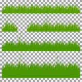 Hierba, arbustos Un sistema de diversos tipos de hierba Sistema de hierba en un fondo transparente Foto de archivo libre de regalías