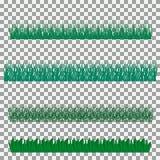 Hierba, arbustos Un sistema de diversos tipos de hierba Sistema de hierba en un fondo transparente Fotografía de archivo libre de regalías