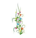 Hierba con las flores fijadas Foto de archivo libre de regalías