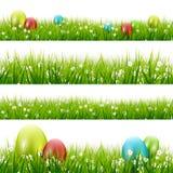 Hierba con los huevos - conjunto del vector Fotos de archivo