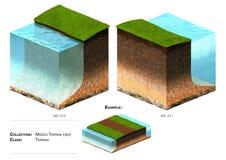 hierba del bloque del paisaje 3D Foto de archivo libre de regalías