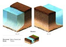 hierba del bloque del paisaje 3D Fotografía de archivo
