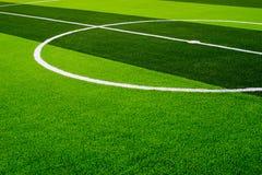 hierba del campo de fútbol Foto de archivo libre de regalías