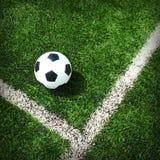 Hierba del estadio del campo de fútbol del fútbol Fotografía de archivo libre de regalías