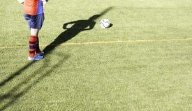 Hierba del partido de fútbol Fotos de archivo libres de regalías
