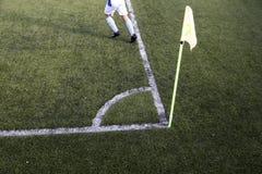Hierba del partido de fútbol Imagen de archivo libre de regalías