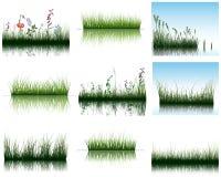 Hierba en el agua ilustración del vector