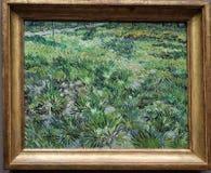Hierba larga con las mariposas, por Vincent Van Gogh foto de archivo libre de regalías