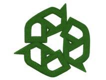 Hierba que recicla símbolo Fotografía de archivo