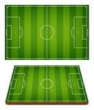 Hierba rayada de los campos de fútbol del vector Imágenes de archivo libres de regalías
