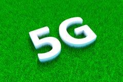hierba verde 5G Foto de archivo