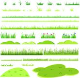 Hierba verde para el collage ilustración del vector
