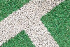 Hierba verde y tira del blanco imagen de archivo