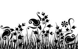 Hierba y flor, vector Imagen de archivo libre de regalías