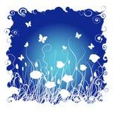Hierba y flores libre illustration