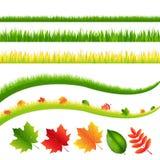 Hierba y hojas stock de ilustración