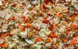 Hierba y verdura secadas imagen de archivo