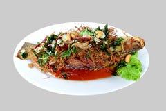 Hierbas de la fritada de pescado Imagen de archivo