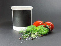 Hierbas e ingredientes imagen de archivo libre de regalías