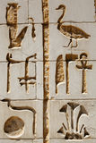 Hieróglifos - ascendente próximo Foto de Stock