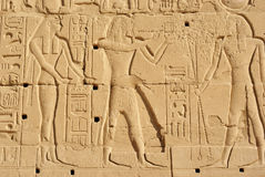 Hieroglif ściana Fotografia Royalty Free