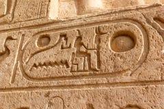 Hieroglificzny Abu Simbel obrazy royalty free