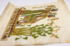 hieroglifu antykwarski egipski papirus Obrazy Royalty Free