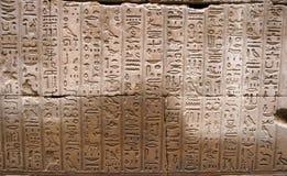 hieroglify edfu temple Zdjęcie Stock