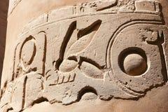 Hierogliphs na świątyni Karnak, Egipt Obraz Stock