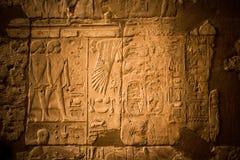 Hieroglyf i den Luxor templet royaltyfri foto