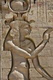 Hieroglyfer av den forntida egyptiern arkivfoton