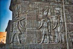 Hieroglyfer på Karnac nära Luxor royaltyfri bild