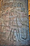 Hieroglyfer på templet av Kom Ombo royaltyfria bilder
