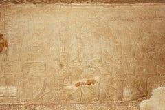 Hieroglyfiskt på stenen Arkivfoto