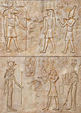Hieroglyph. A wall with Hieroglyph carving royalty free stock images