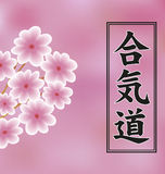 Hieroglyph of Aikido . Royalty Free Stock Photo